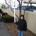 Boy with picket sign