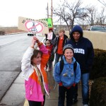 Proud Mom with Picketing Students
