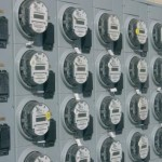 wall of smart meters